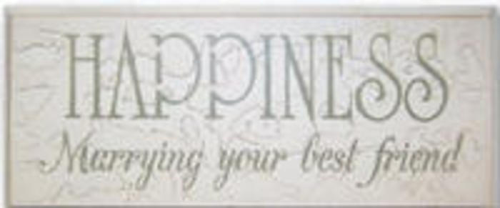 Happiness: Marrying Your Best Friend