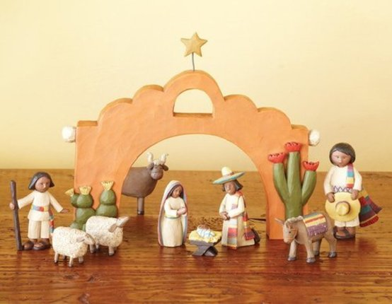 Southwest Nativity 4""