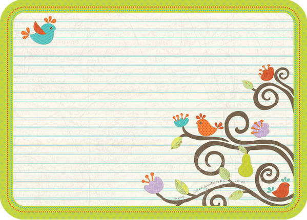 young women value tree note cards - Note Cards