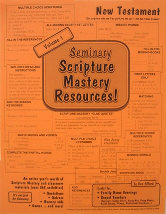 Seminary Scripture Mastery Resources: New Testament, Vol. 1