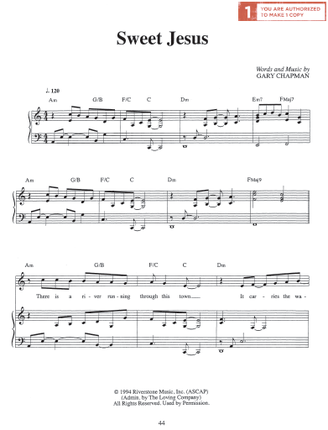 Sweet Jesus (Sheet Music Download)