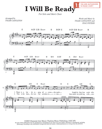 I Will Be Ready (Sheet Music Download)