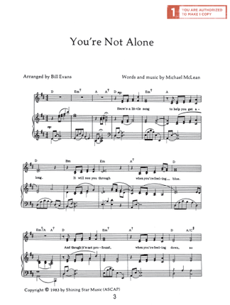 You\'re Not Alone (Sheet Music Download) - Deseret Book