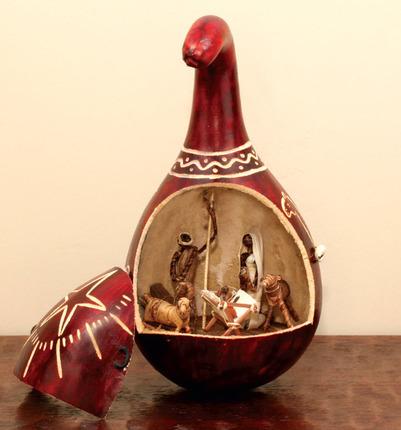 Kenya Gourd Nativity