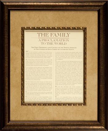 Family Proclamation (14x17 Framed Art) - Deseret Book