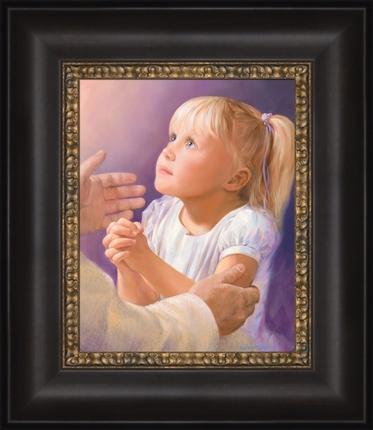 A Child's Prayer (12x14 Framed Art)