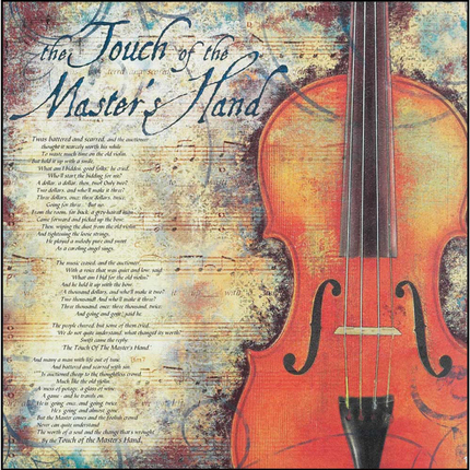 The touch of the master s hand 12x12 plaque deseret book