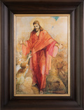 5111000_christ_in_red_robe_minerva_tiechert_walnut_stained