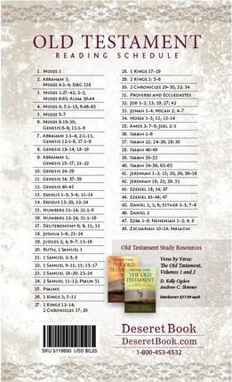 2014 Old Testament Reading Schedule Bookmark - Deseret Book