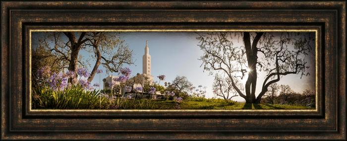 Los Angeles Temple The Day Dawn Is Breaking 19x48 Canvas Framed