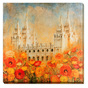 Salt Lake Temple - Sweet Promises of God (30x30 Wrapped Canvas)