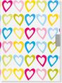 Hearts Locking Diary