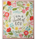 Child of god wall hanging quilt pink