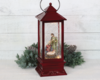 Holy family lantern nativity