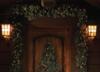 Pre lit garland door