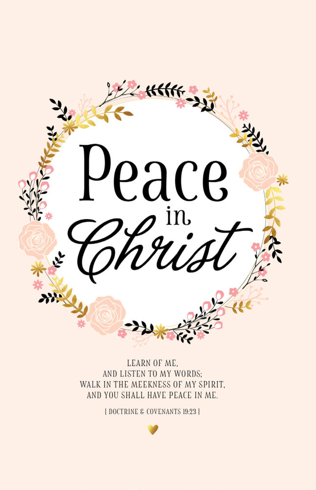 Peace in christ journal