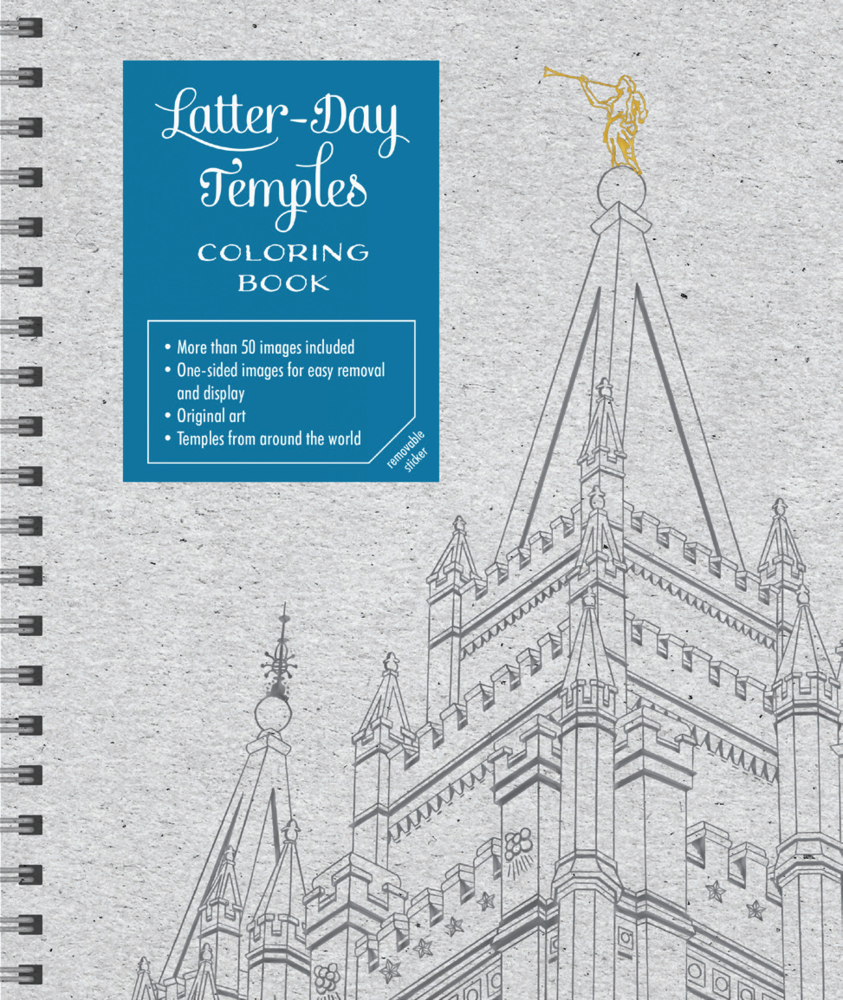Latter day temple coloring book