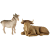 Willow tree goat and cow