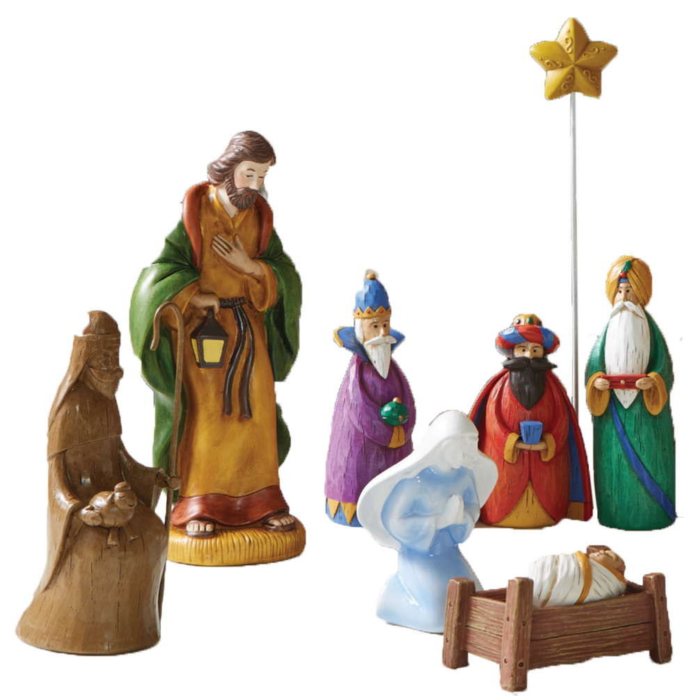 The Mismatched Nativity (9-Piece Set)