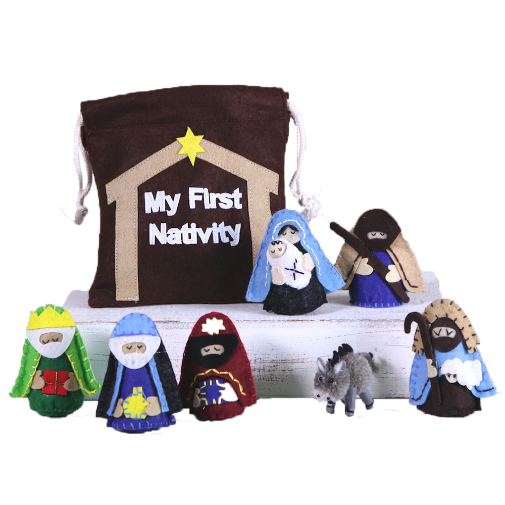 My First Nativity Quiet Bag (8-Piece Set)