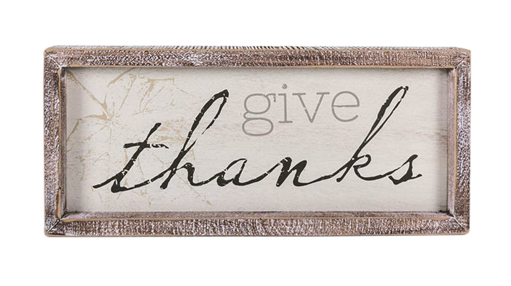 Give thanks 13x5 plaque